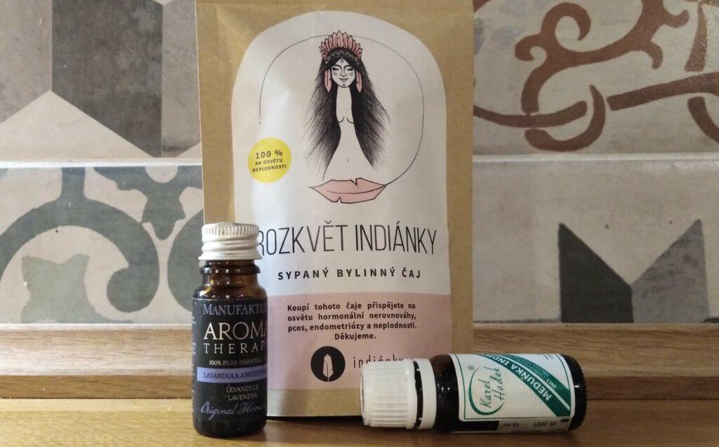 Rozkvět Indiánky, aromaterapie, jóga menstruace